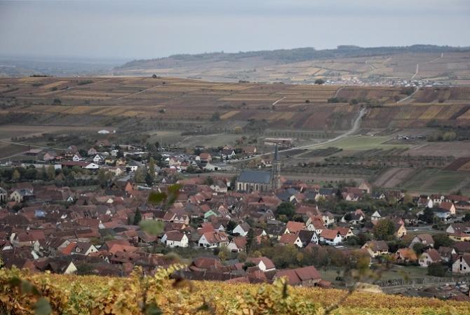 Vue sur Westhoffen et Dangolsheim
