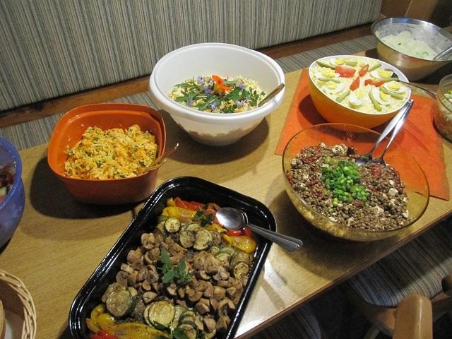 Le dîner à la Schneiderfeld Hütte