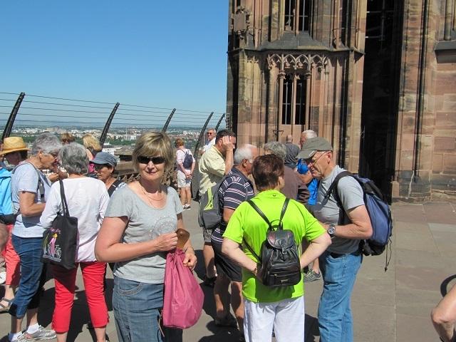 Strasbourg - Sur la plateforme de la Cathédrale