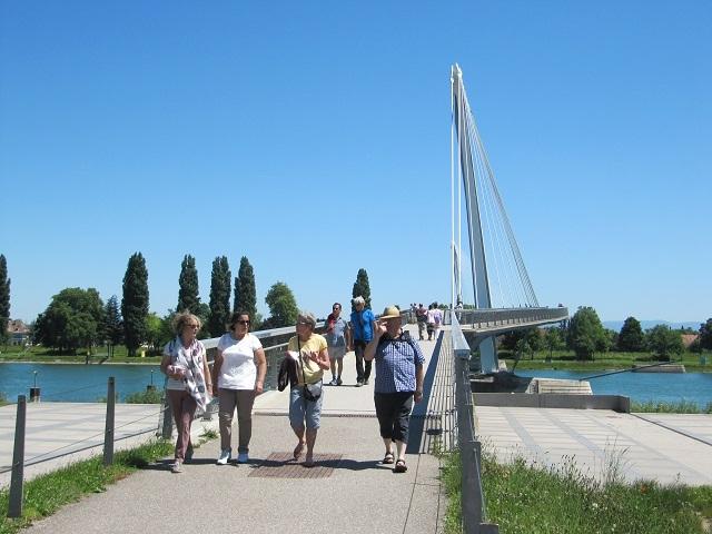 Passerelle Mimram des 2 rives côté France - Parc des 2 Rives