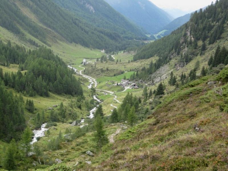 Vallée de l'Ahrntal vers Tauern Alm