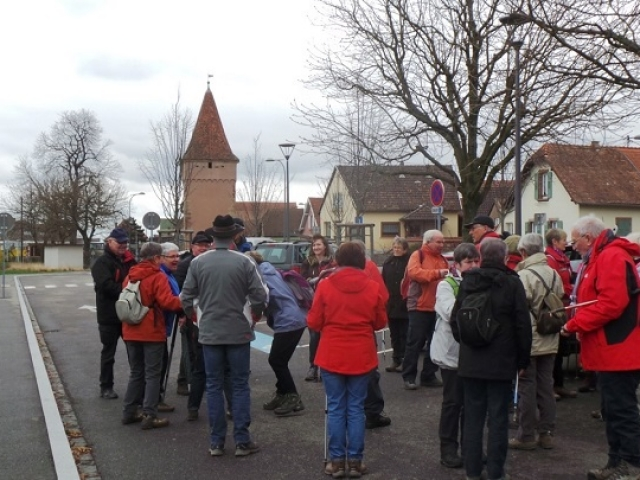 Départ Rosheim - parking de la Porte du Lion (Loewentor)
