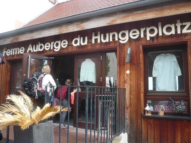 Arrivée au Restaurant du Hungerplatz