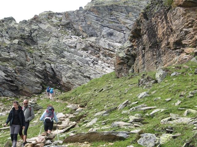Sur le sentier vers la Wiesbadener Hütte par le Radsattel