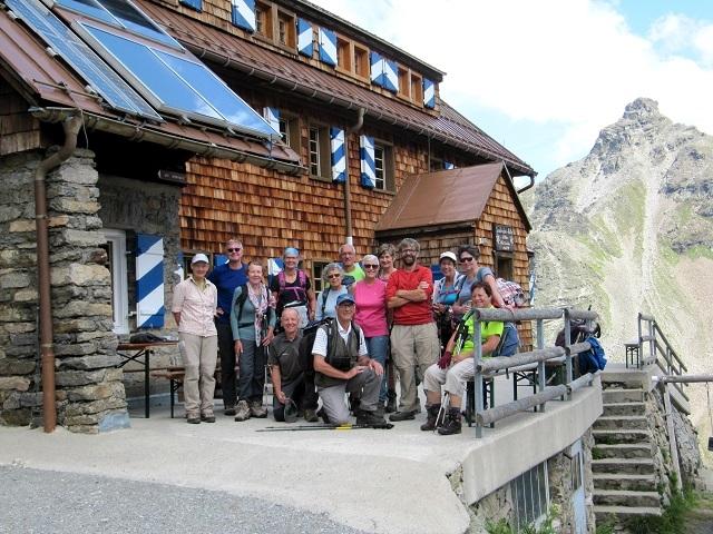 Les 2 groupes réunis à la Saarbrücker Hütte