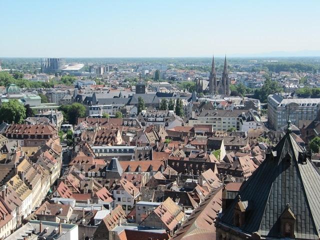 Strasbourg - Vue depuis la plateforme de la Cathédrale