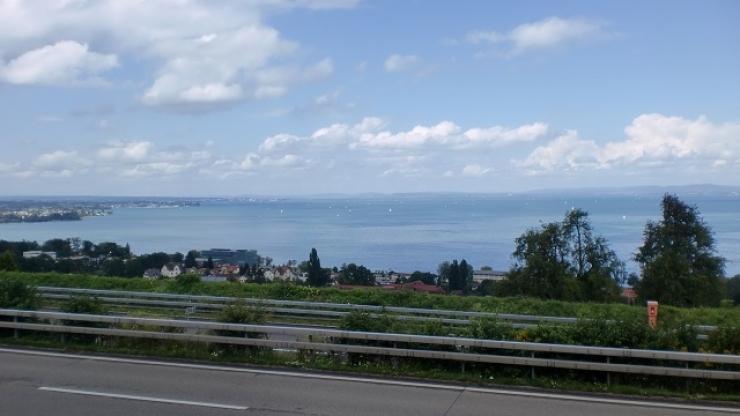 2 En route pour l'Auriche - Pause avec vue sur le Lac de Constance