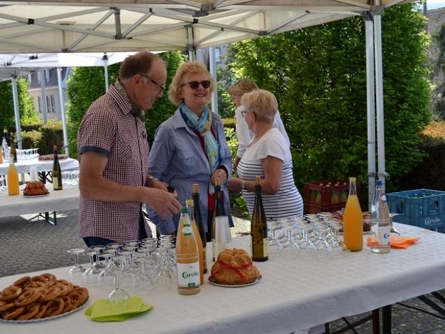 Attente du vin d'honneur