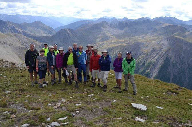 Groupe 1 au sommet du Chevalier