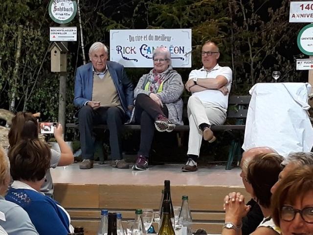 D. Hoeffel, ancien Ministre, M. Eschlimann, Maire de Wasselonne, A. Ferstler, Président de la Fédération du CV