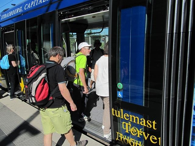 Déplacement en tram pour le centre ville de Strasbourg