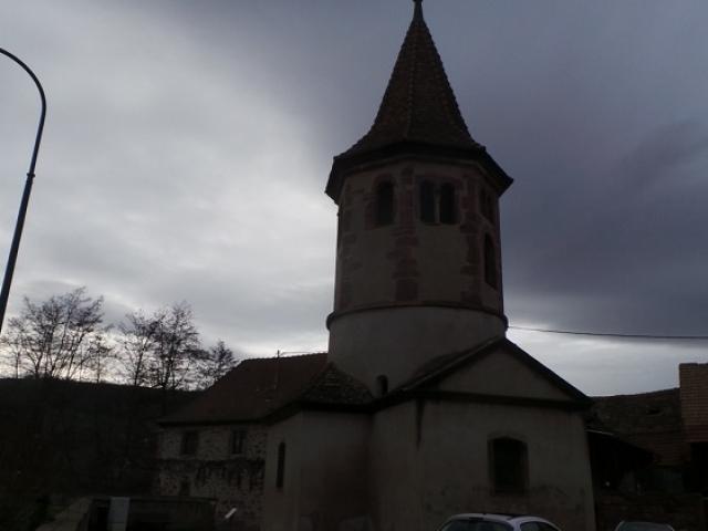 Le baptistère à Avolsheim