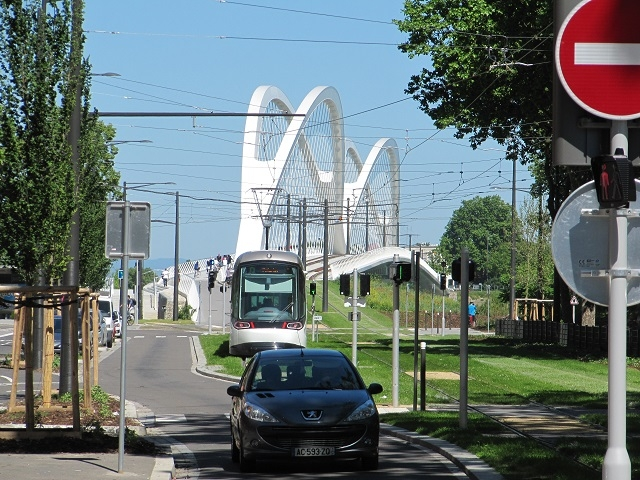 Strasbourg - Tram station Quartier Port du Rhin