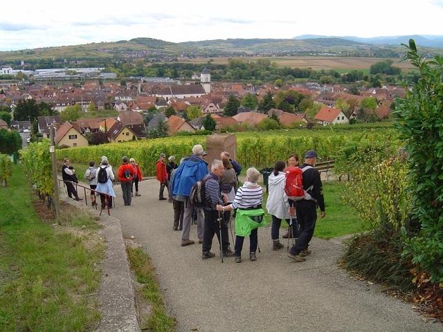 A la chapelle et vue sur Marlenheim