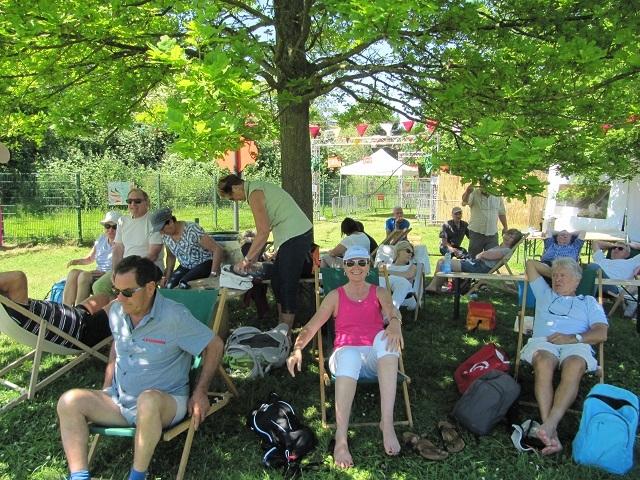 Strasbourg - Pause au Parc des 2 Rives
