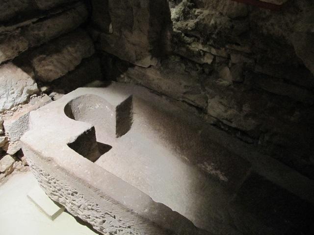 Crypte archéologique de l'Abbaye de Marmoutier - Sarcophage