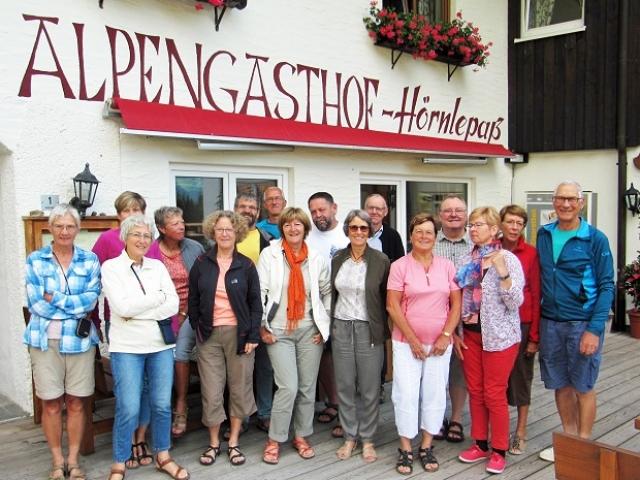 Participants du séjour à l'Alpengastfof Hörnlepass